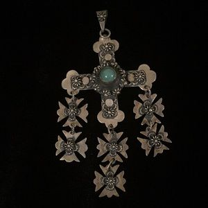 Vintage Mexican Cross Pendent